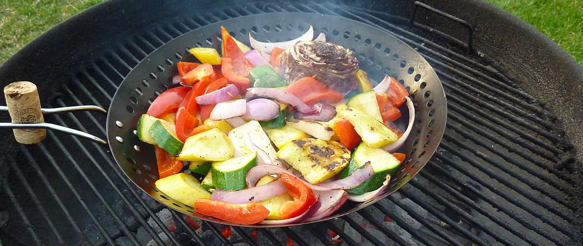 succulent side order of veggies on the grill